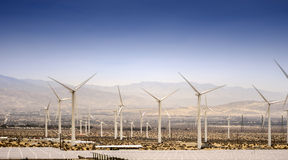 Sustainable power from wind Turbines, Palm Springs Stock Photo