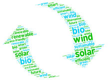 Sustainable Renewable Energy Graphic Illustration. Renewable Energy Graphic Illustration consisted of eco-friendly environmentalist words Royalty Free Stock Photos