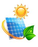 Sustainable solar energy concept Stock Photography