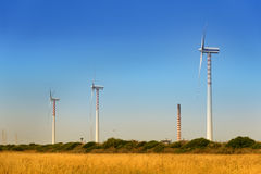 Sustainable wind power generation Stock Photos