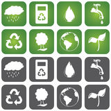 Sustainalble Icon Set Royalty Free Stock Images