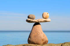 Sustained balance of stones Royalty Free Stock Photography