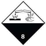 Sustancias corrosivas de la muestra de peligro Foto de archivo libre de regalías