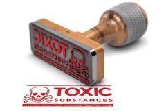 Sustancias peligrosas, información química de la toxicidad Foto de archivo