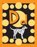 Sustantivos de la letra D de tarjeta de destello Imagen de archivo libre de regalías