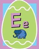 Sustantivos de la letra E de tarjeta de destello Foto de archivo libre de regalías