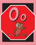 Sustantivos de la letra O de tarjeta de destello. libre illustration