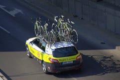 Sustentação da equipe da raça de bicicleta imagens de stock