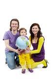 Sustentação da matriz e do pai com filha das mãos fotografia de stock