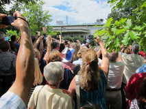 Sustentação da multidão de Mitt Romney imagem de stock
