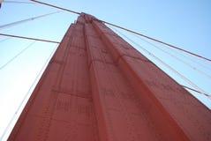 Sustentação da ponte de porta dourada foto de stock