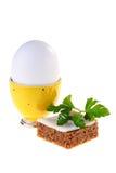 Sustentação do amarelo do ovo fotos de stock
