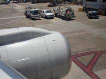 Sustentação do avião fotografia de stock royalty free