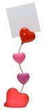 Sustentação para uma foto com corações Fotografia de Stock Royalty Free
