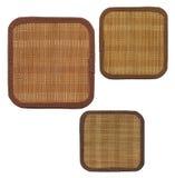 Sustentação três de bambu imagem de stock