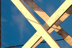 Sustentações & cabo da madeira Imagens de Stock