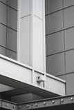 Sustentações de aço de Verticalf da alameda de compra Foto de Stock Royalty Free