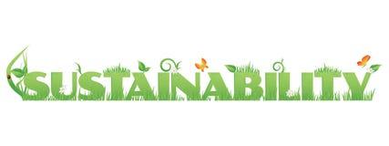 Sustentabilidade verde ilustração stock