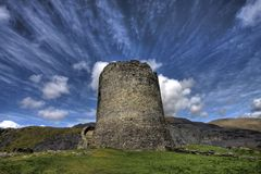 Sustento de Dolbadarn do castelo foto de stock