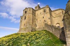 Sustento norte dos castelos de Warkworth fotos de stock royalty free