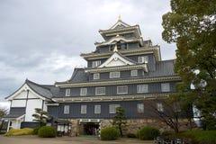 Sustento principal do castelo de Okayama, Japão foto de stock