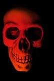Susto rojo de Víspera de Todos los Santos del cráneo Imagenes de archivo