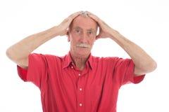 Sustos aposentados do homem Fotos de Stock Royalty Free