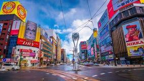 Susukino,札幌,日本都市风景 股票视频