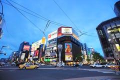 Susukino Distric札幌,日本都市风景  免版税库存照片
