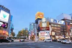Susukino Distric札幌,日本都市风景  免版税库存图片