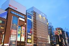 Susukino Distric札幌,日本都市风景  图库摄影