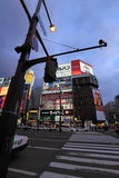 Susukino night scene (the entertainment district of Sapporo) Stock Images