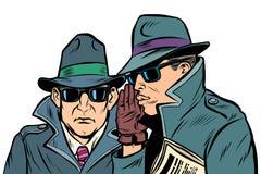 Susurro de dos agentes secretos libre illustration