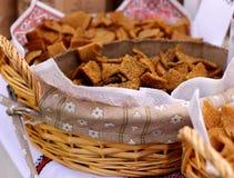Suszę piec chlebów krakers Zdjęcia Stock