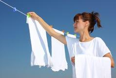 suszarnicza clothesline pralnia zdjęcie stock