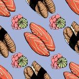 Suszi deseniowy azjata 1 ilustracji