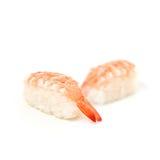 Suszi Japoński jedzenie na białym backgroundon bielu tle Obrazy Stock