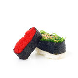 Suszi Japoński jedzenie na białym tle Zdjęcia Royalty Free