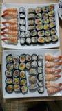 Suszi japonesecuisine domowej roboty asiansushi Fotografia Royalty Free