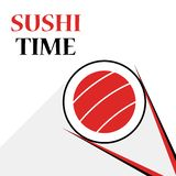 Suszi karmowy logotyp dla azjatykciej karmowej dostawy royalty ilustracja