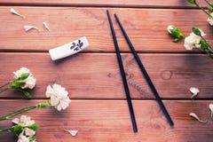 Suszi kwiat i set Zdjęcia Royalty Free