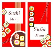 Suszi menu Zdjęcie Stock