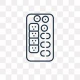 Suszi mieszanki wektorowa ikona odizolowywająca na przejrzystym tle, liniowym ilustracja wektor