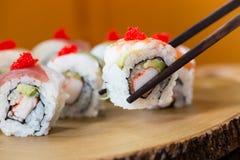 Suszi set, Japoński jedzenie Zdjęcia Stock