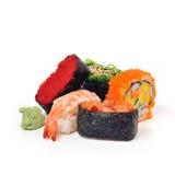 Suszi setu paczki Japoński jedzenie odizolowywa na białym tle Obraz Royalty Free