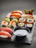 Suszi Ustalony sashimi Fotografia Stock