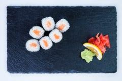 Suszi Ustalony sashimi i suszi rolki Obraz Royalty Free