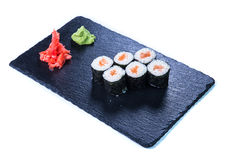 Suszi Ustalony sashimi i suszi rolki Zdjęcie Stock