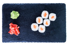 Suszi Ustalony sashimi i suszi rolki Fotografia Stock