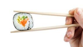 Suszi z chopsticks Zdjęcie Stock